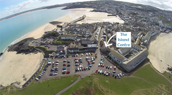 Find us at the Island Centre. Photo by St Ives TV
